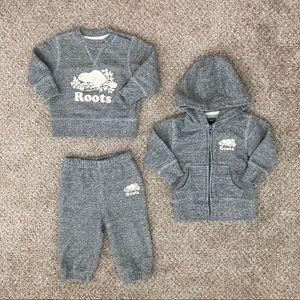 Baby Roots Sweatshirt Hoodie Sweatpants Set